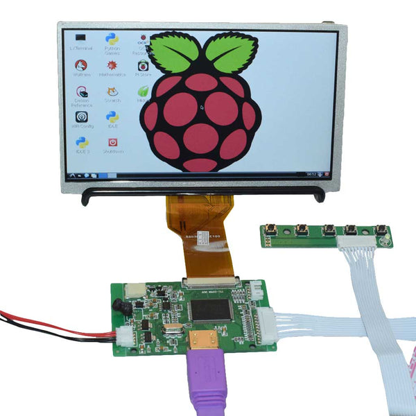 "7"" 800x480 HDMI Display for Raspberry Pi Mini Driver"