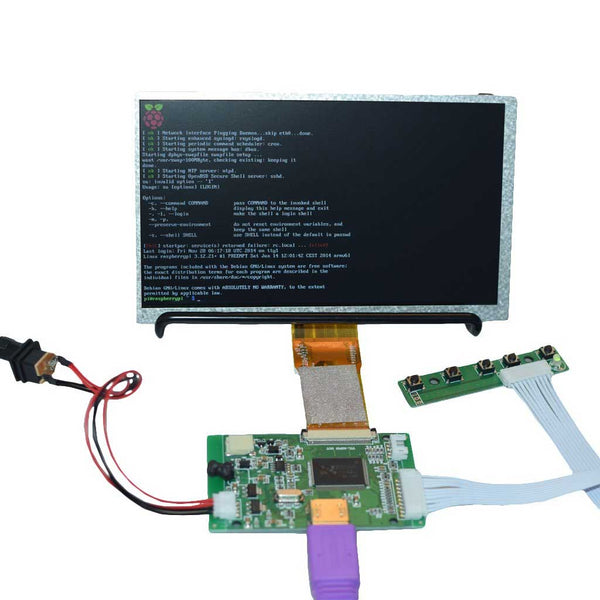 "7"" 1024x600 HDMI Display for Raspberry Pi Mini Driver"