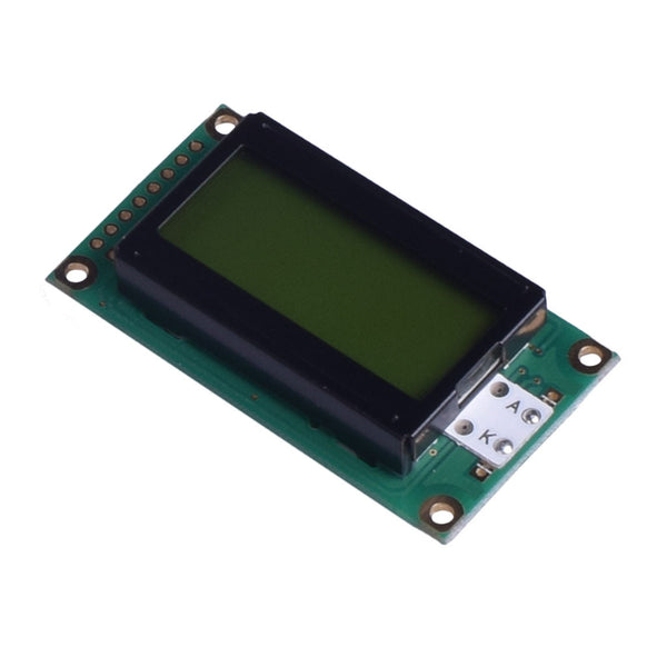 08x2 Yellow Green Character LCD - MCU