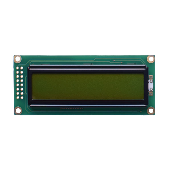 16x2 Yellow Green Character LCD - MCU