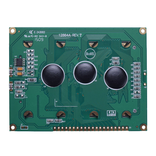 128x64 Large Blue Graphic LCD - MCU