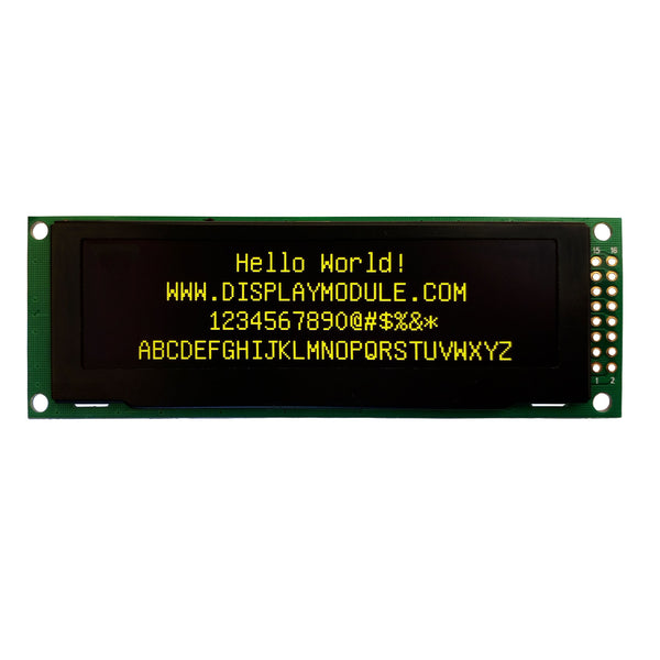 "2.8"" 256x64 Yellow Graphic OLED Display Module - MCU, SPI"