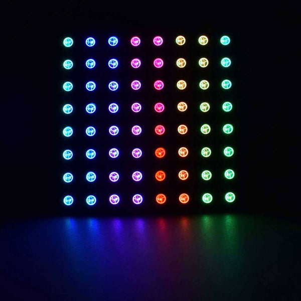 Digital RGB LED Matrix 8 x 8 Pixel - Black