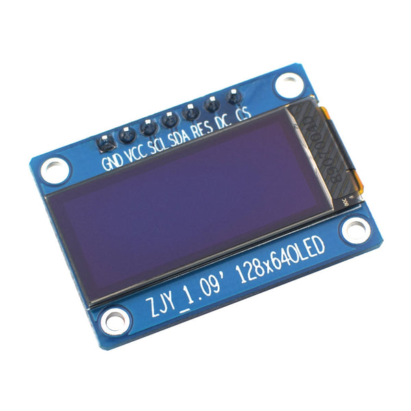 "1.09"" 64x128 Monochrome Graphic OLED Display Module - SPI"
