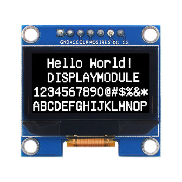 "1.3"" 128x64 Monochrome Graphic OLED Display Module - SPI"
