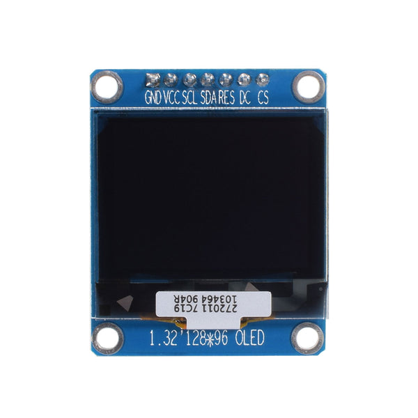 "1.32"" 128x96 White Graphic OLED Display Module - SPI"
