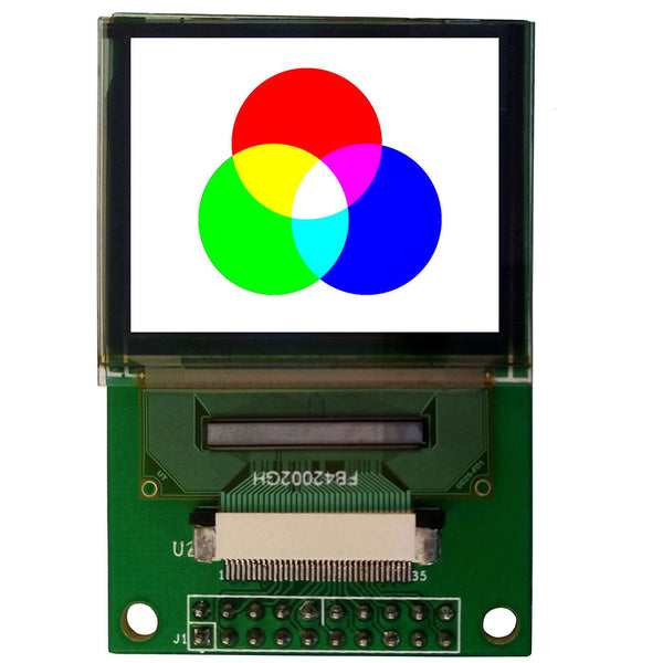 "1.69"" 160x128 RGB Color OLED Display Module - MCU, SPI"