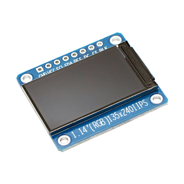 "1.14""  135x240 IPS TFT Display Module - SPI"