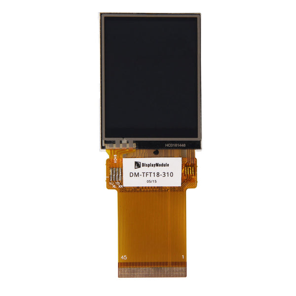 "1.8"" 128x160 TFT LCD Display Panel With Resistive Touch - SPI, MCU, RGB"