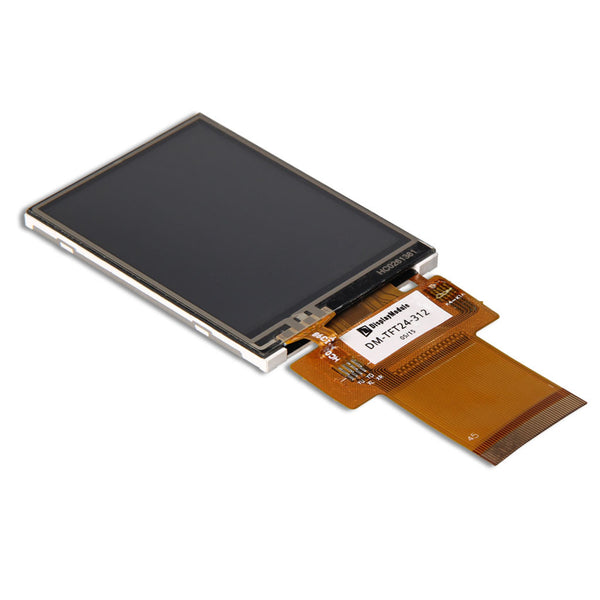 "2.4"" 240x320 TFT LCD Display Panel With Resistive Touch - SPI, MCU, RGB"