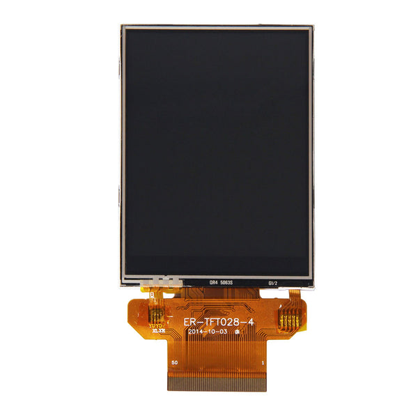 "2.8"" 240x320 TFT LCD Display Panel (ILI9341) With Resistive Touch - SPI, MCU, RGB"