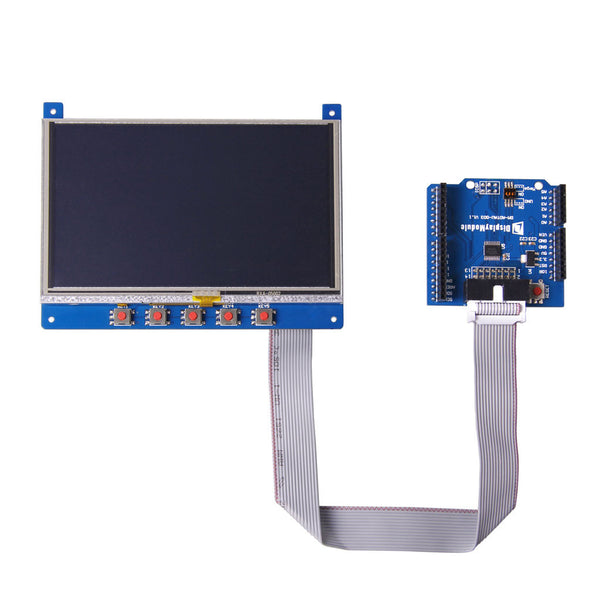"5.0"" 800x480 Display Shield With Resistive Touch For Arduino And mbed - SPI"