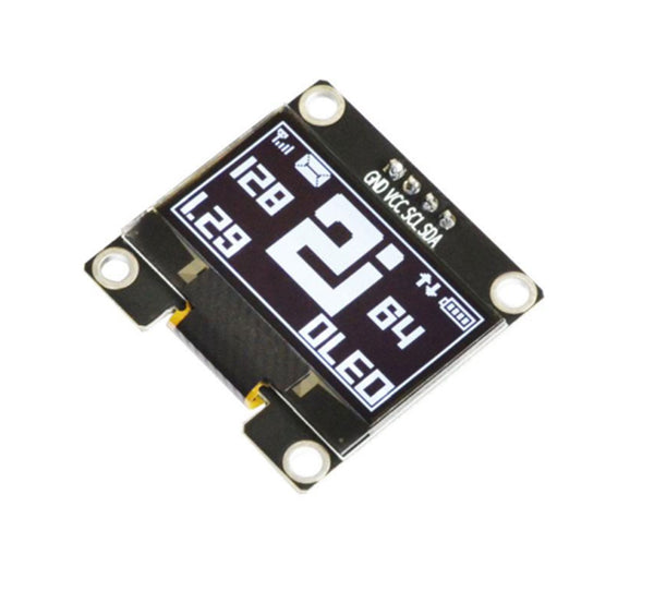 "1.29"" 128x64 Monochrome Graphic OLED Display Module - I2C"