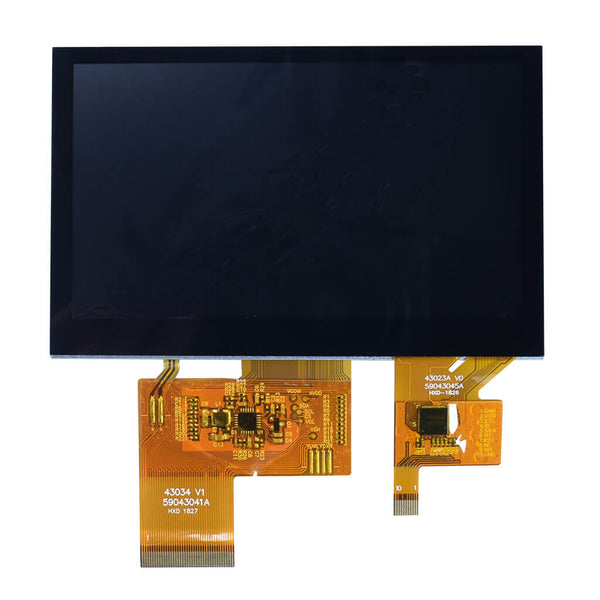 "4.3""  IPS 800x480 Display Panel With Capacitive Touch - RGB"