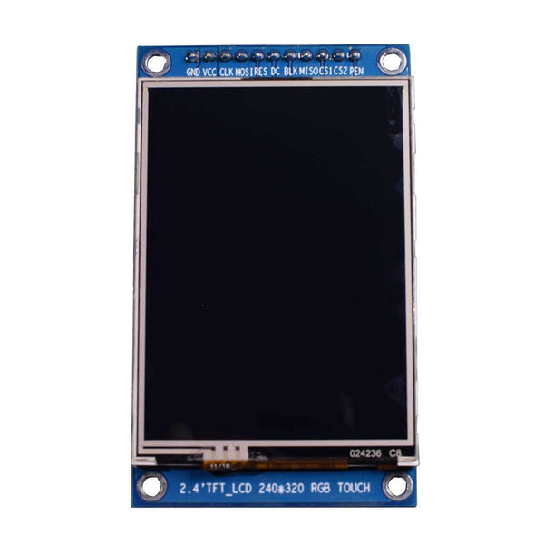 "2.4"" 240x320 TFT LCD Display Module With Resistive Touch - SPI"