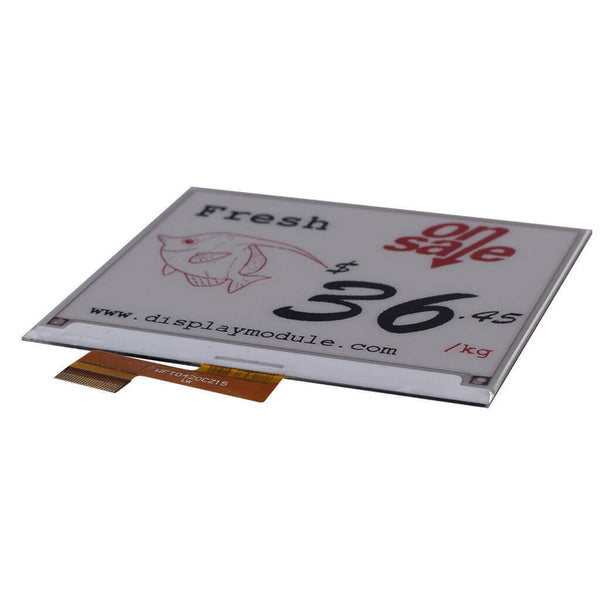 "4.2"" 400 x 300 Three Color E-Ink Paper - SPI"