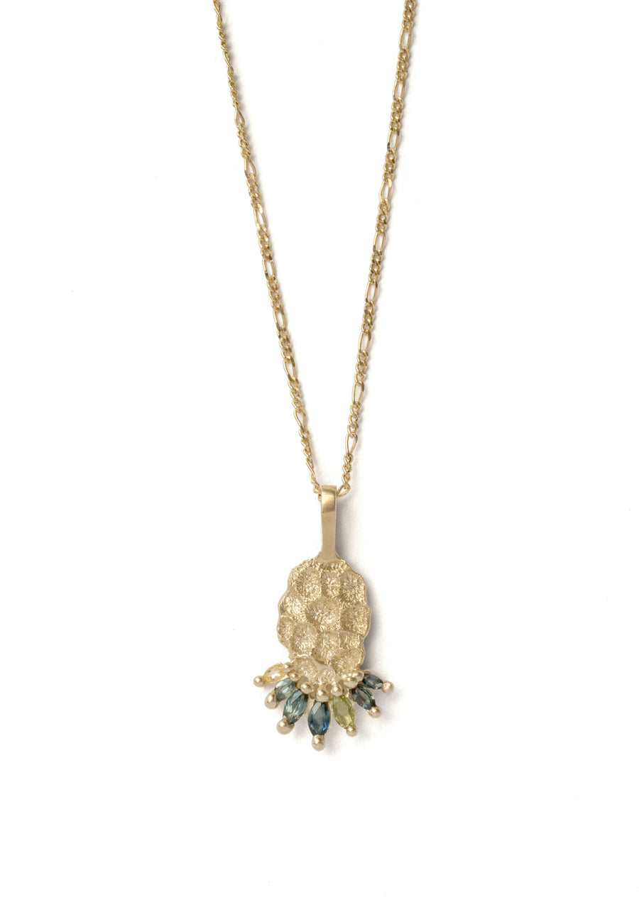 The Coral Vista Necklace - 9ct Gold.