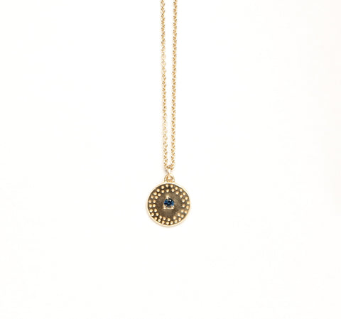 Fortunes Necklace 9ct Yellow Gold and Navy
