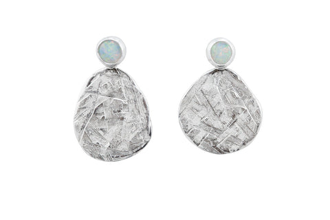 White opal and shimmer earrings