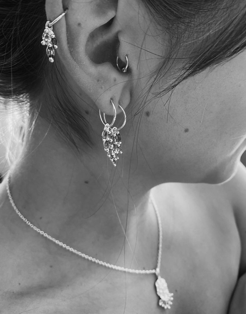 The Rosa Earring - Sterling silver - Single or Pair