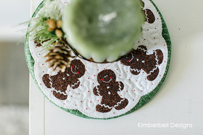 Kimberbell Shop Exclusive Ginger Cookie Candle Mat