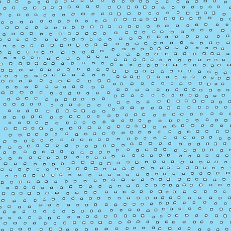 Hop to It Square Dot Aqua Blue