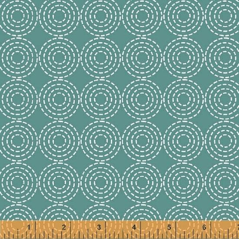 Stitched Rounds Teal