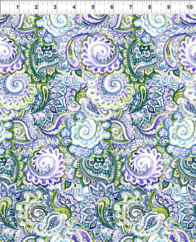 The Leah Collection - Purple and Green Paisley