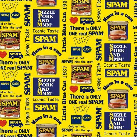 Spam Print Yellow