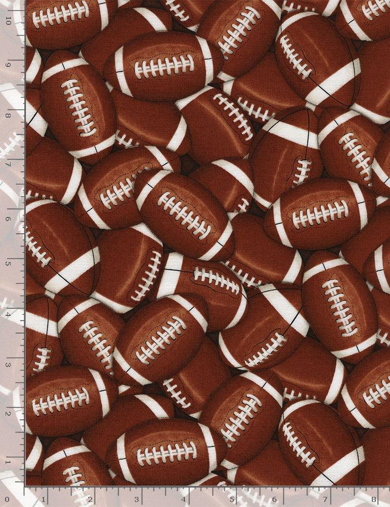 Packed Footballs Brown