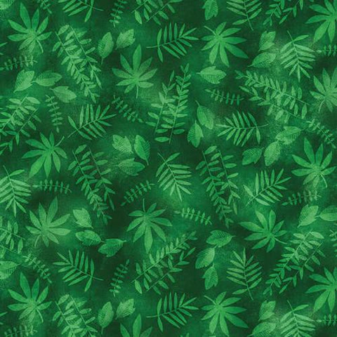 Green Leaf Texture Tropical Zone