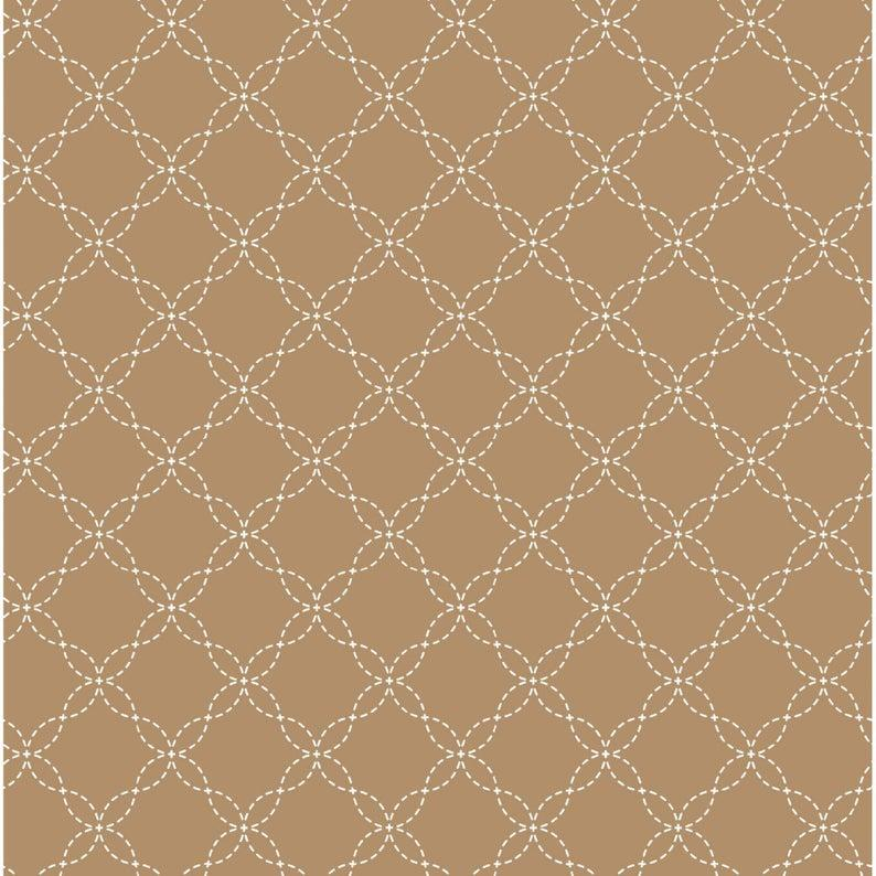 Kimberbell Basic - Lattice on Brown
