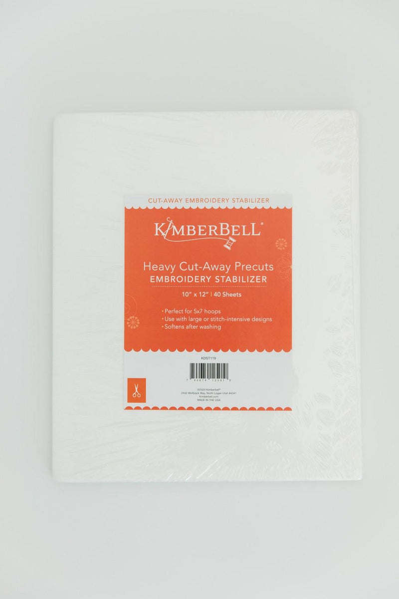 "Kimberbell Stabilizer - Heavy Cut Away 12"" x 10"" Precuts 40 Sheets"