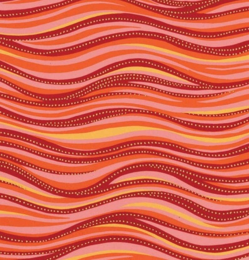 Laurel Burch - Basic Wave Dark Coral Metallic