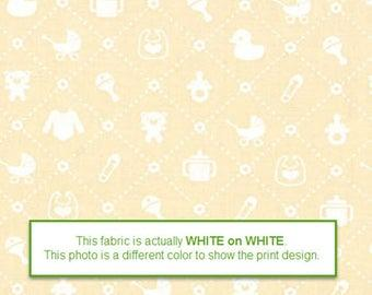 Muslin Mates White on Cream background Baby Items