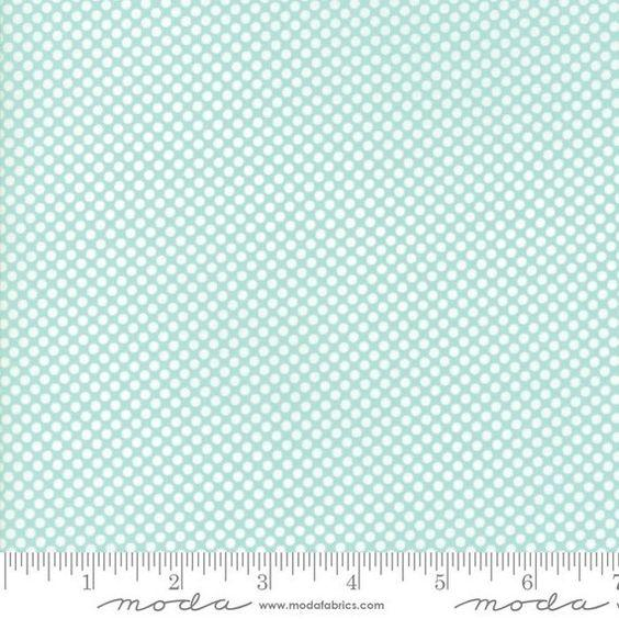 Vintage Holiday Aqua with White Dots