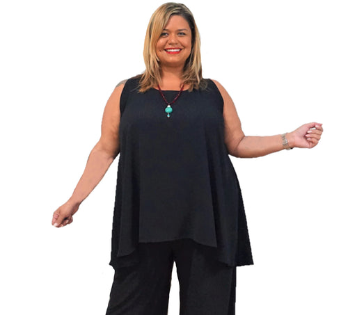 Plus Size Black Shell