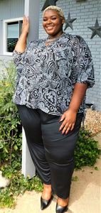 Plus Size Crepe Top