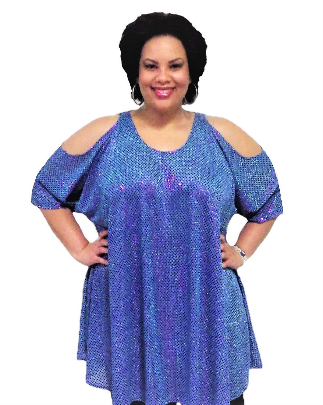Plus Size Sequin Top