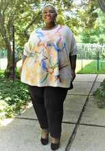 Load image into Gallery viewer, Plus Size Hand-painted Star Top