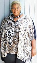 Load image into Gallery viewer, Chic Plus Size Animal Print Top