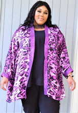 Load image into Gallery viewer, Silky Sequin Animal Print Jacket