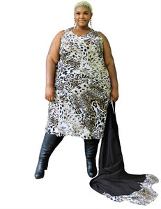 Plus Size Animal Print Dress