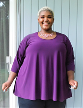 Load image into Gallery viewer, Burgundy Plus Size Top