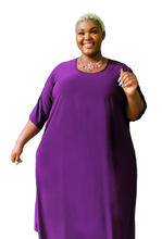 Load image into Gallery viewer, Plus Size Burgundy Dress