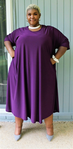 Plus Size Burgundy Dress