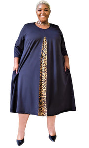 City Chic Animal Print Dress