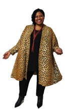 Load image into Gallery viewer, Gold & Black Animal Print Jacket