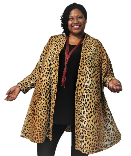 Gold & Black Animal Print Jacket