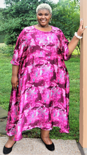 Load image into Gallery viewer, Plus Size Pink Print Dress